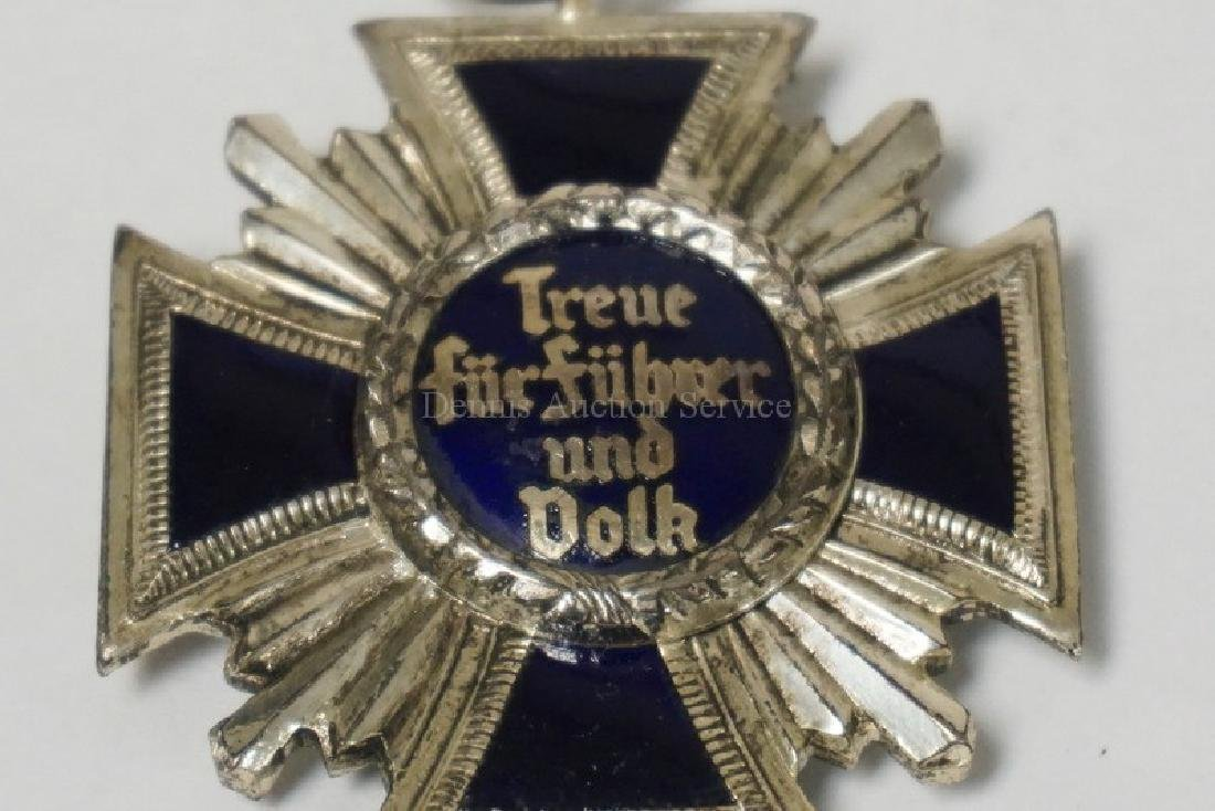 ENAMELED NAZI PARTY LONG SERVICE MEDAL. 1 5/8 INCHES - 2