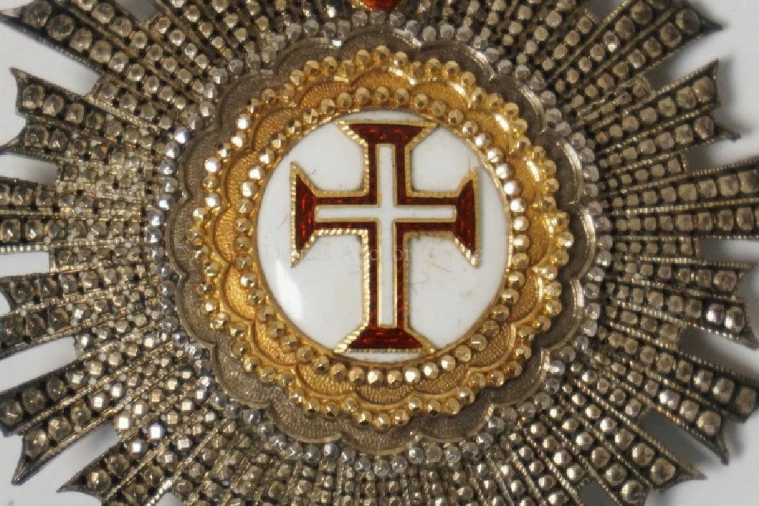 PORTUGUESE ORDER OF CHRIST ENAMELED LADIES BREAST STAR. - 2