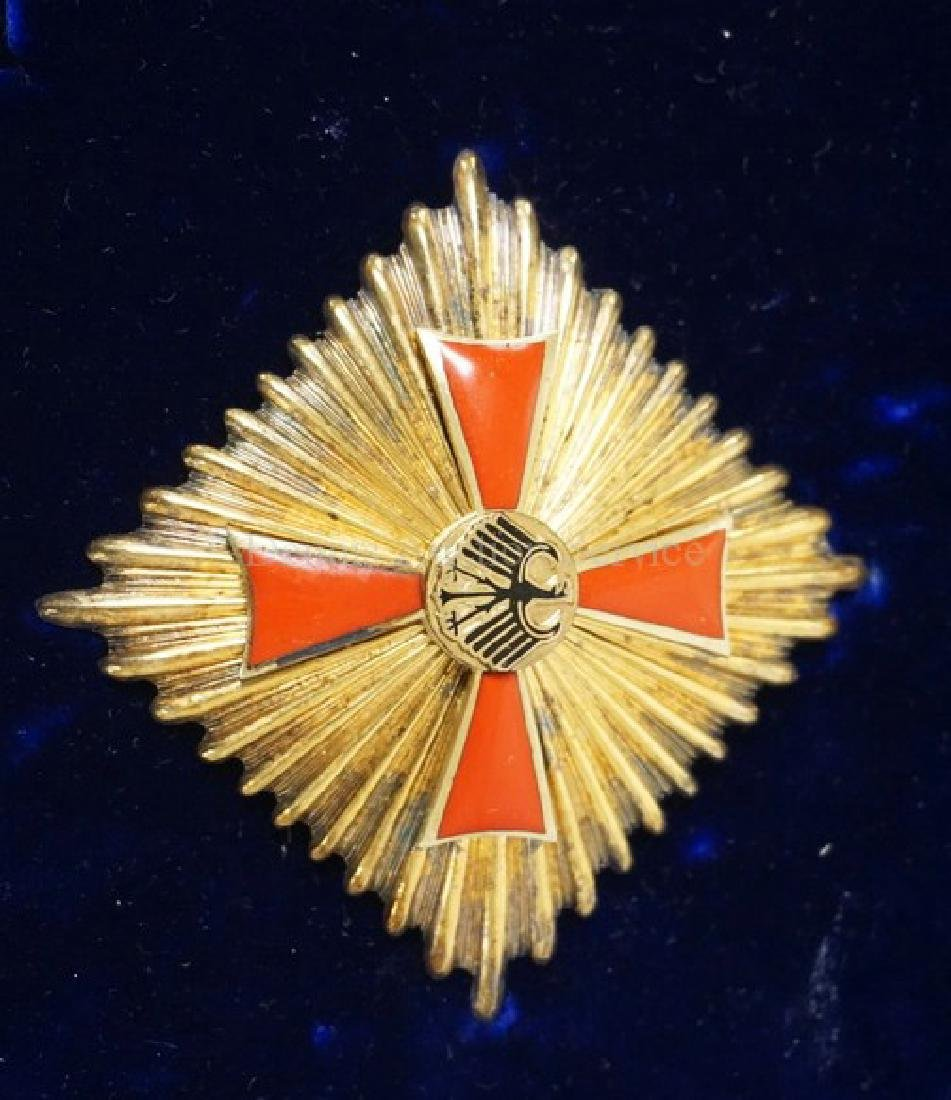 ENAMELED GERMAN MERIT FIRST CLASS OFFICERS CROSS SET IN - 2