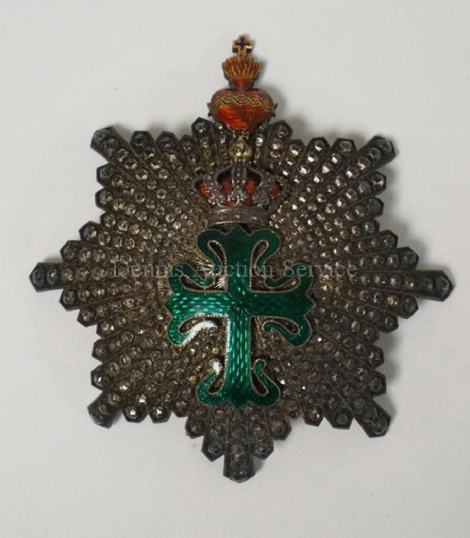 PORTUGUESE ORDER OF AVIS ENAMELED BREAST STAR. 3 1/2 X