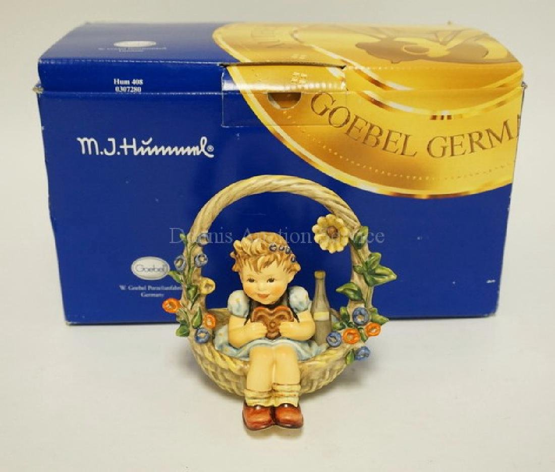 HUMMEL #618 *BASKET OF GIFTS* FIGURE. 5 1/8 INCHES - 2