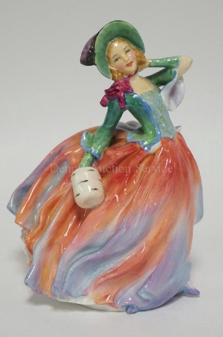 ROYAL DOULTON PORCELAIN FIGURE TITLED *AUTUMN BREEZES*.