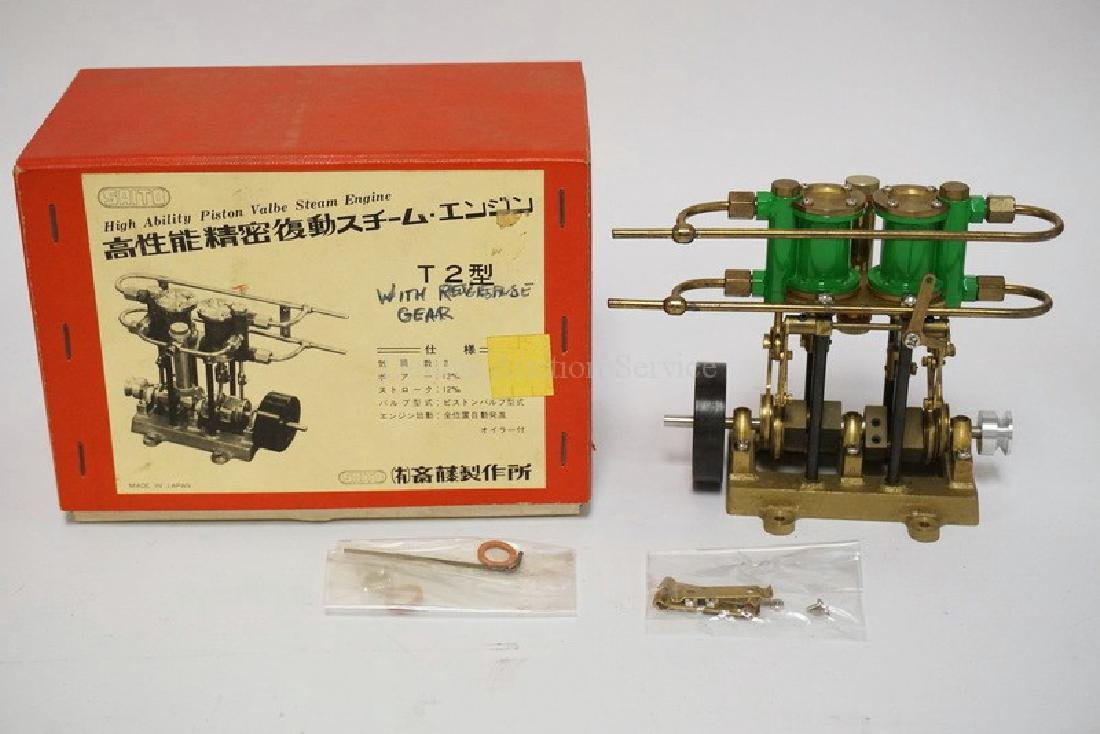 VINTAGE SAITO *HIGH ABILITY PISTON VALVE STEAM ENGINE*