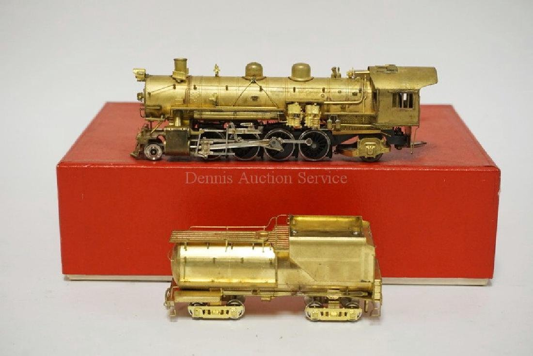 VINTAGE LMB BRASS HO SCALE LOCOMOTIVE & TENDER. *UP
