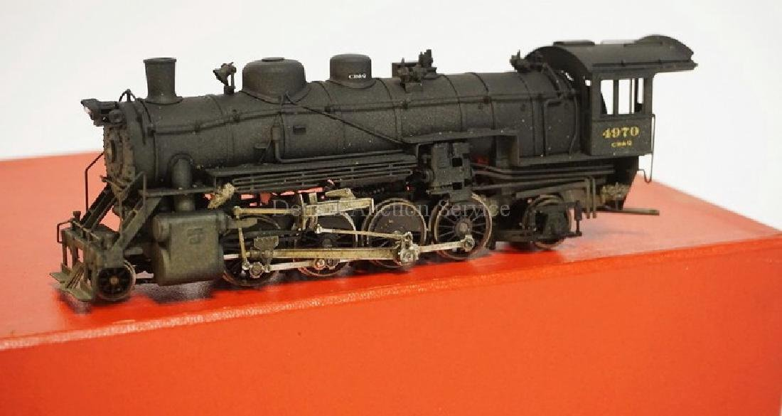 VINTAGE LMB BRASS HO SCALE LOCOMOTIVE & TENDER. CB&Q - 2