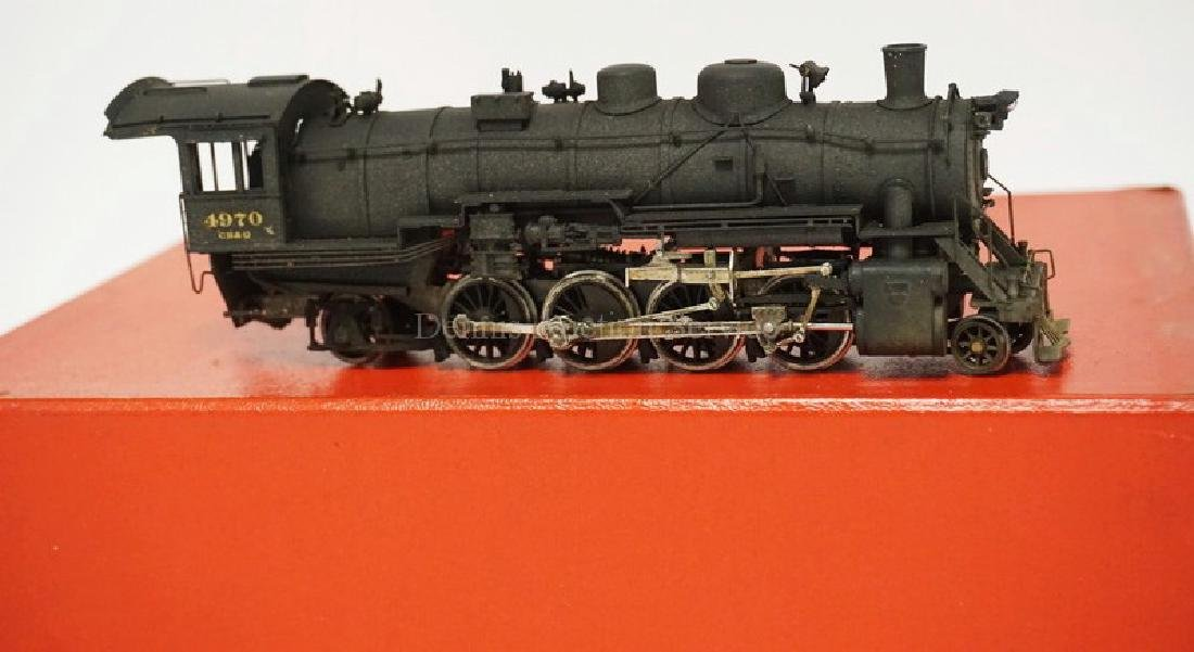 VINTAGE LMB BRASS HO SCALE LOCOMOTIVE & TENDER. CB&Q - 3
