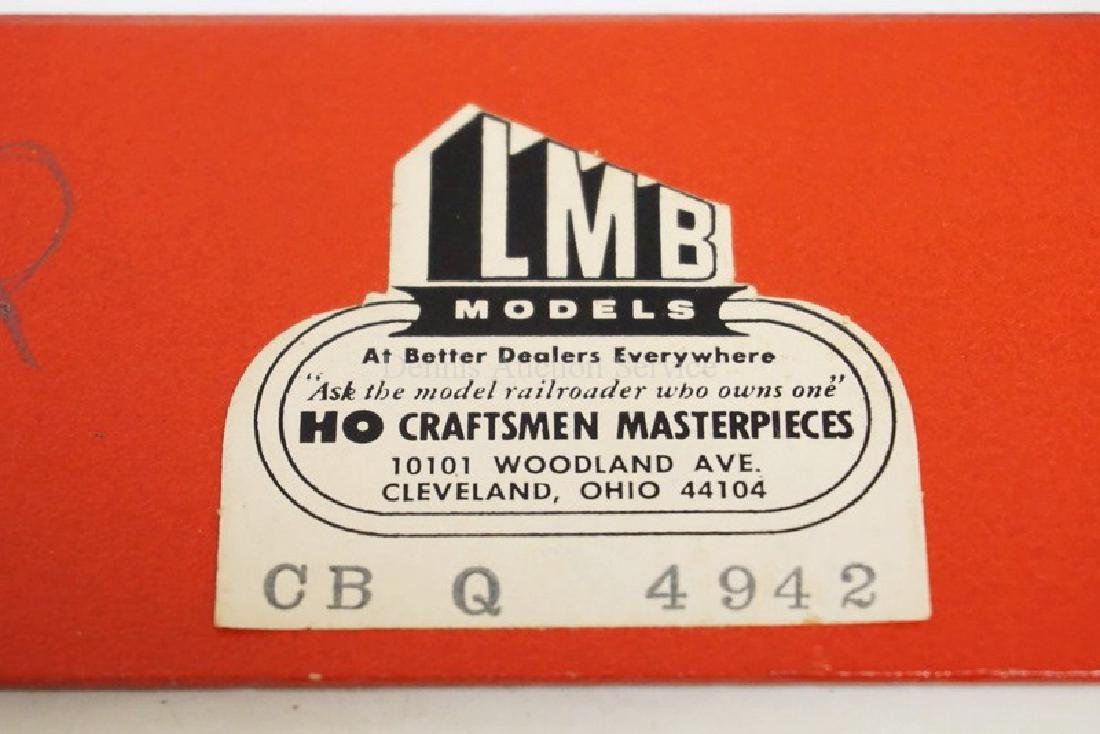 VINTAGE LMB BRASS HO SCALE LOCOMOTIVE & TENDER. CB&Q - 4