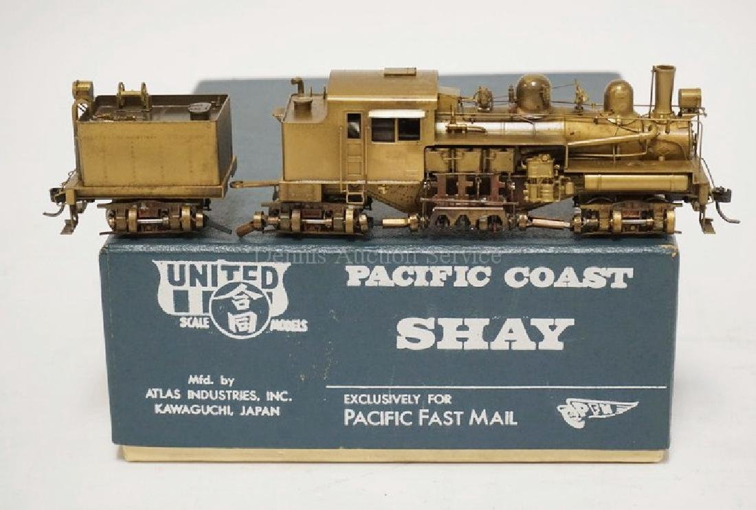 PFM UNITED *PACIFIC COAST SHAY* BRASS HO SCALE