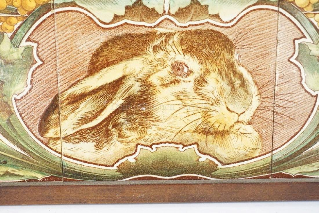 SET OF 3 TILES WITH WITH THE IMAGE OF A RABBIT WITH - 2