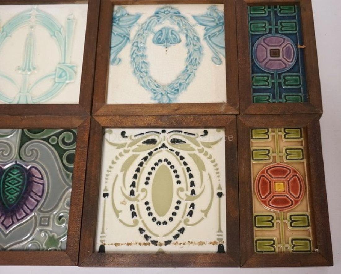 LOT OF 8 ANTIQUE TILES. EACH IS FRAMED. MOST APPEAR TO - 2