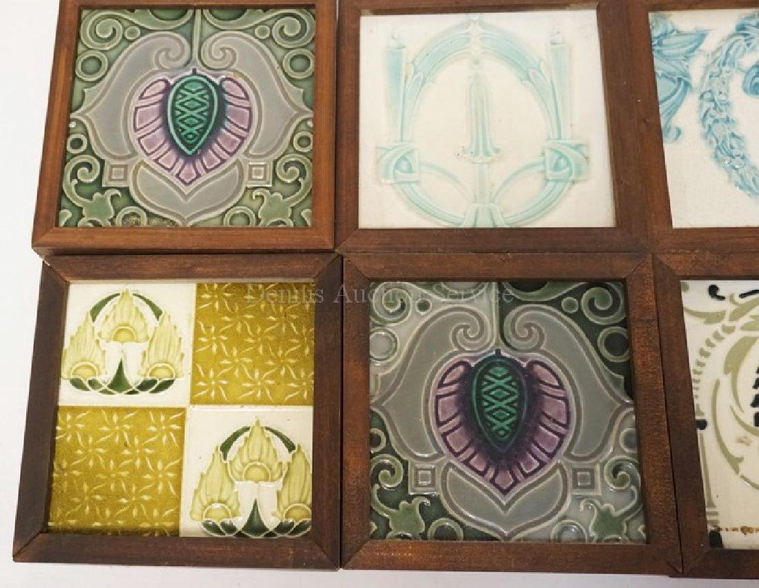 LOT OF 8 ANTIQUE TILES. EACH IS FRAMED. MOST APPEAR TO - 3