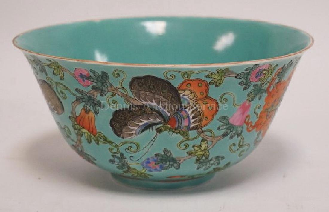 CHINESE FAMILLE ROSE DECORATED PORCELAIN BOWL MEASURING - 2