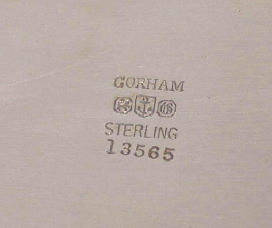 GORHAM STERLING SILVER COVERED VEGETABLE DISH. 26.6 - 3
