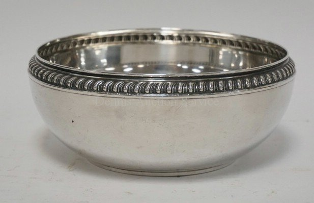 GERMAN .800 SILVER BOWL MEAURING 9 INCHES IN DIA AND 3