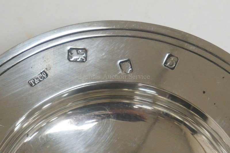 TIFFANY & CO STERLING SILVER DISH. LONDON HALLMARKS. - 2