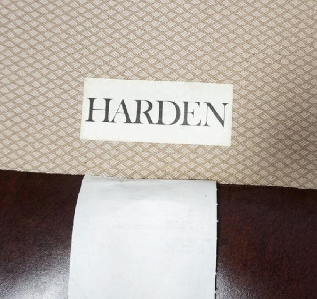 LEATHER LOUNGE CHAIR & OTTOMAN BY HARDEN. - 3