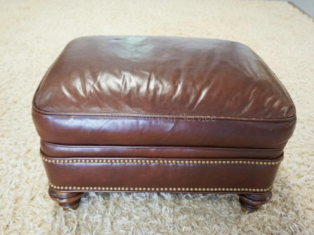 LEATHER OTTOMAN BY GREENBAUM.
