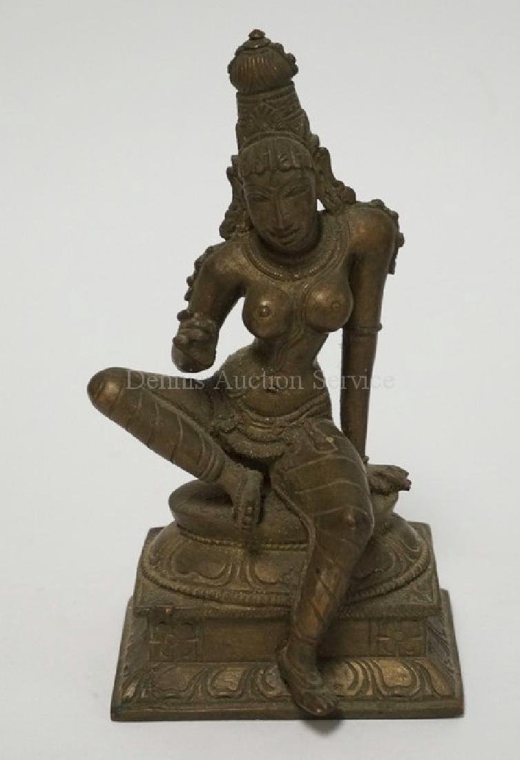 ASIAN BRONZE FIGURE MEASURING 5 3/4 INCHES HIGH.