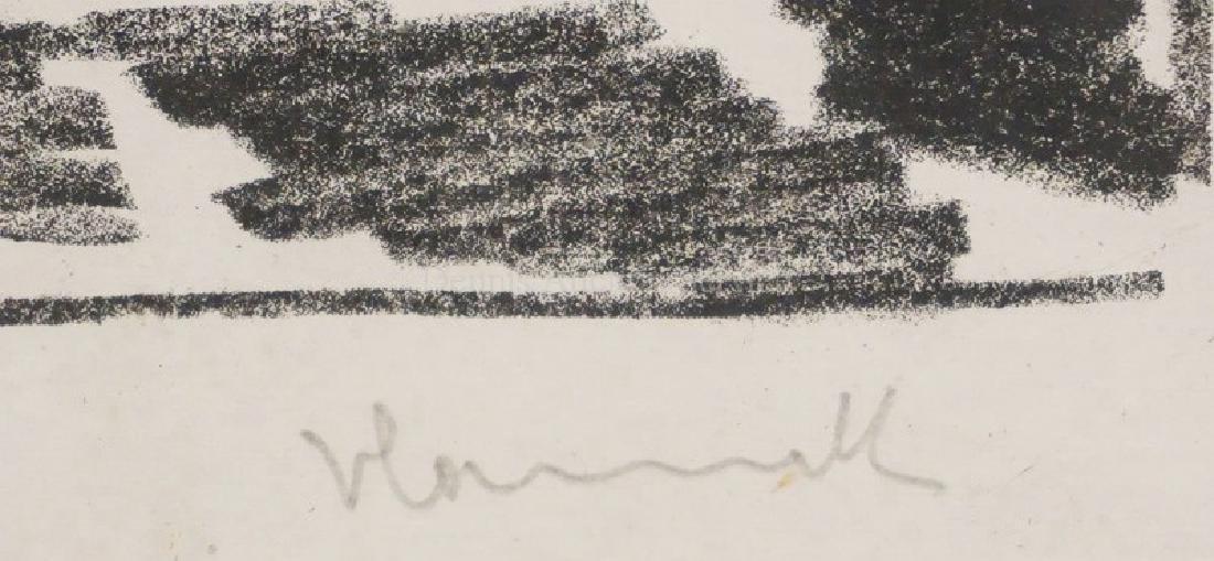 MAURICE DE VLAMINCK LITHO OF A ROAT THROUGH A SMALL - 2