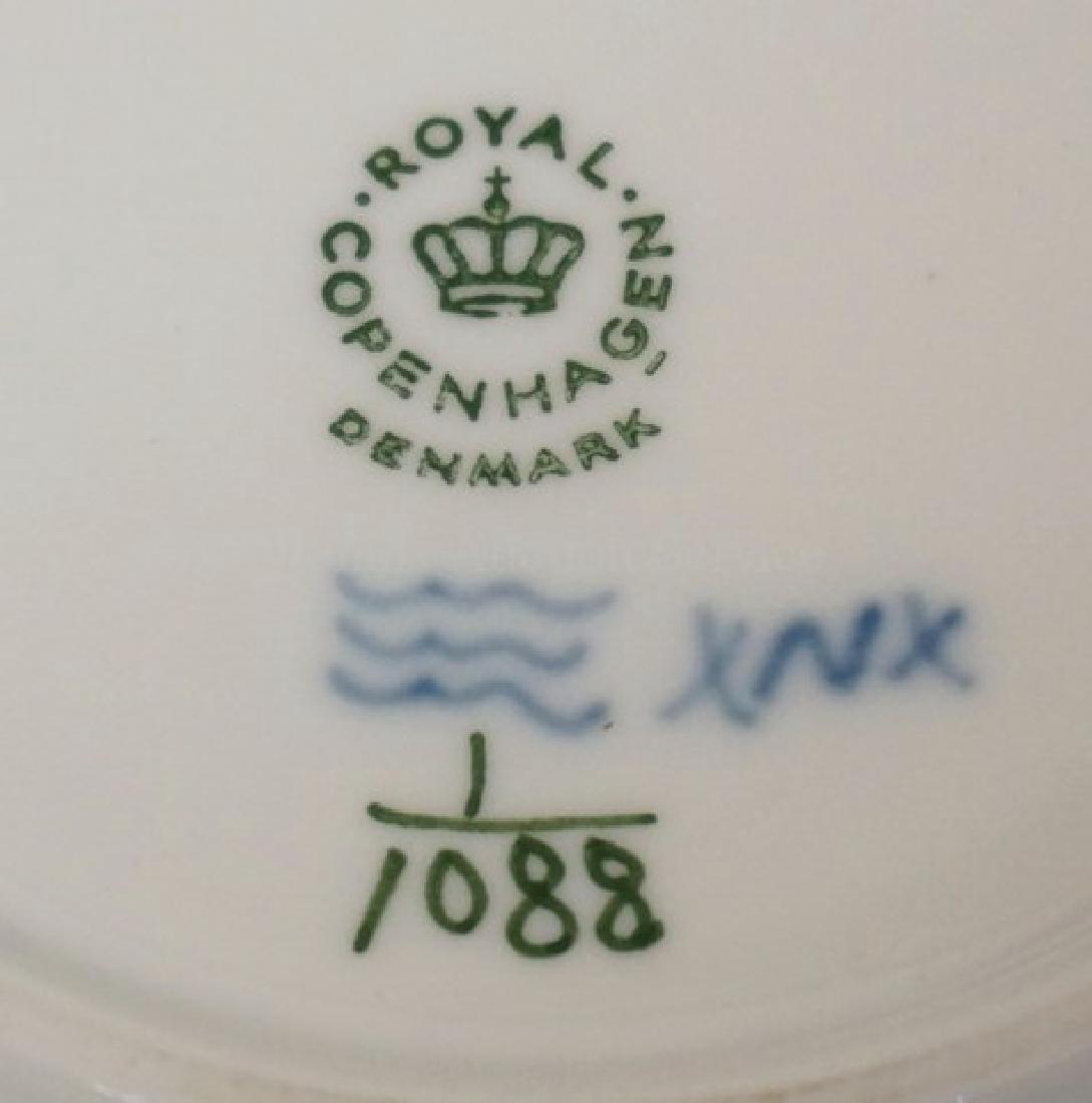 ROYAL COPENHAGEN BLUE FLUTED FULL LACE BREAD & BUTTER - 3