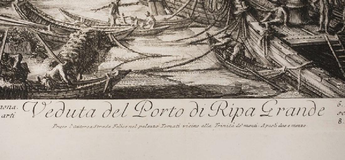 G.B. PIRANESI ENGRAVING *VEDUTA DEL PORTO DI RIPA - 2