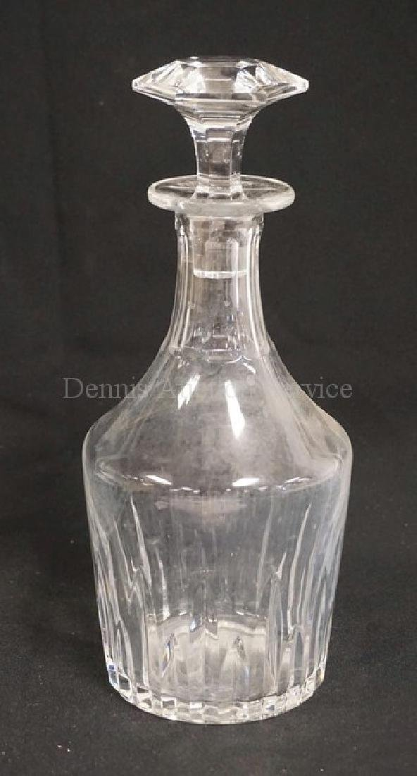 BACCARAT CRYSTAL DECANTER WITH STOPPER. INTERIOR NEEDS