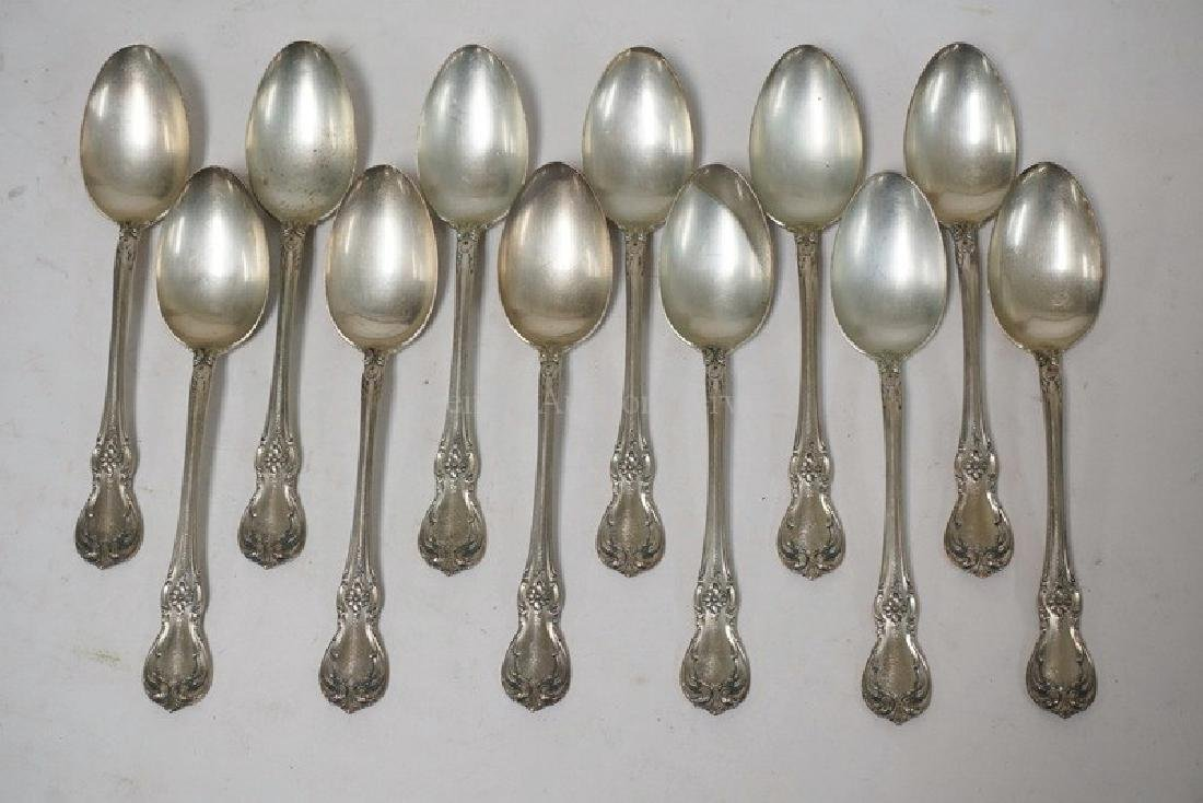 SET OF 12 TOWLE STERLING SILVER TEASPOONS MEASURING 5