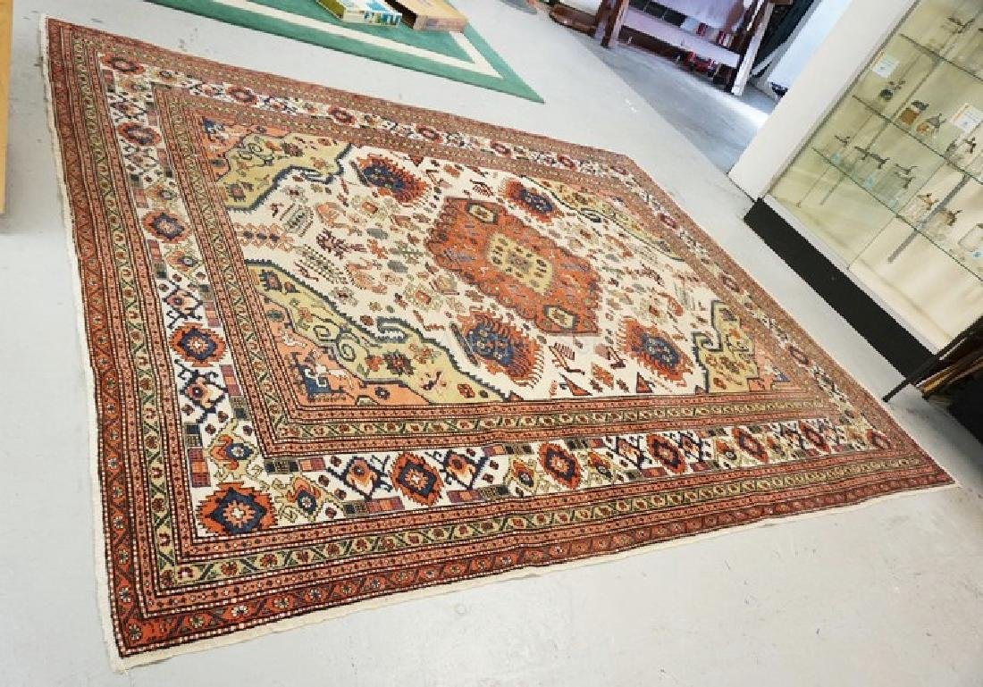 ANTIQUE HAND WOVEN ROOM SIZE ORIENTAL RUG MEASURING 11
