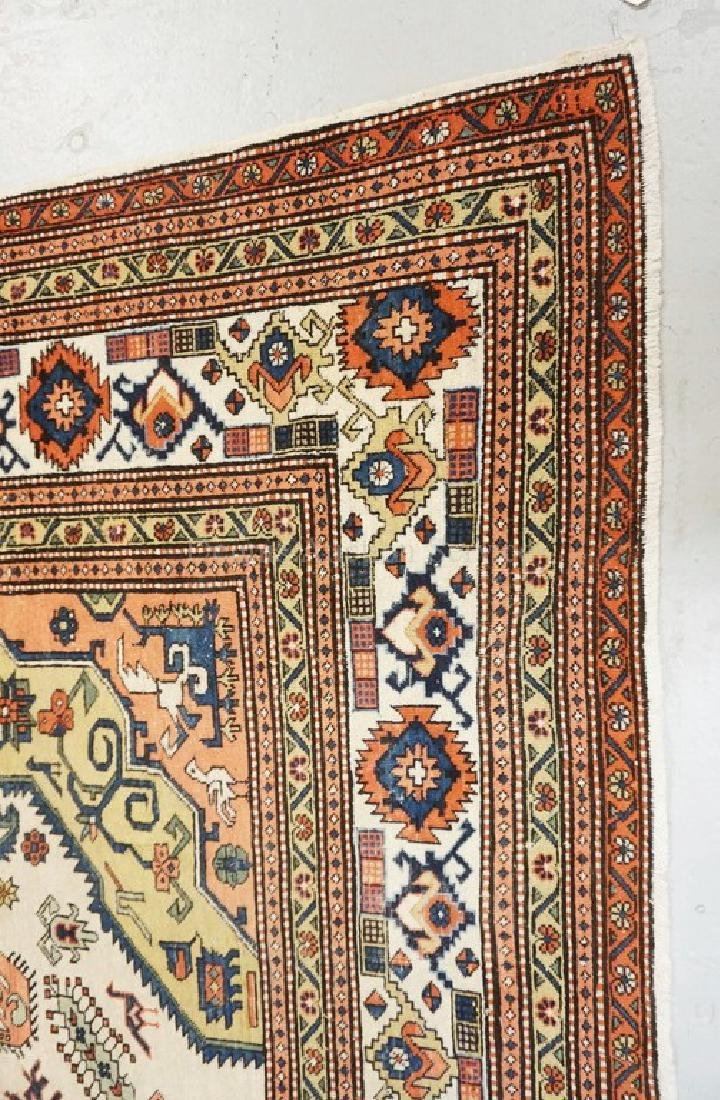 ANTIQUE HAND WOVEN ROOM SIZE ORIENTAL RUG MEASURING 11 - 2