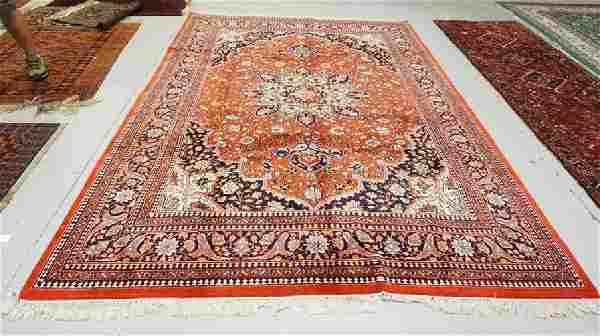ROOM SIZE HAND WOVEN ORIENTAL RUG MEASURING 11 FT 10