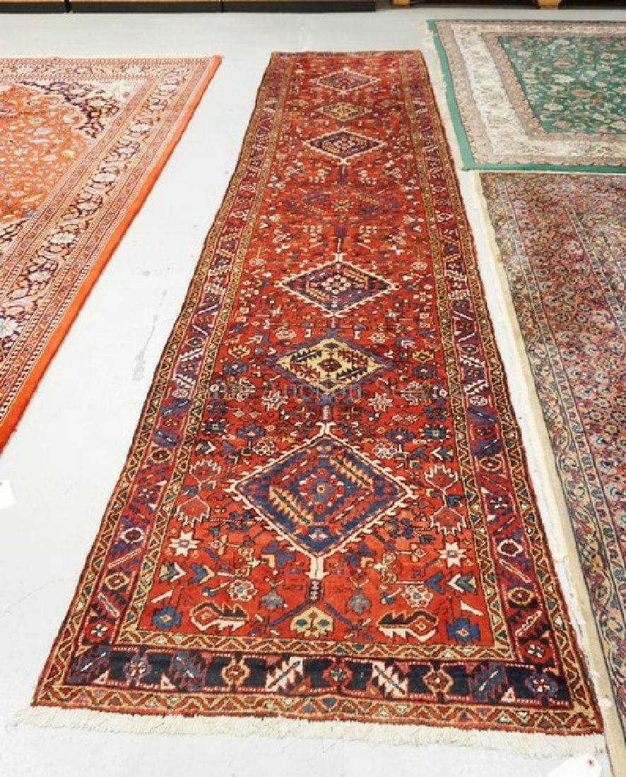HAND WOVEN ORIENTAL RUNNER MEASURING 14 FT 2 INCHES X 3