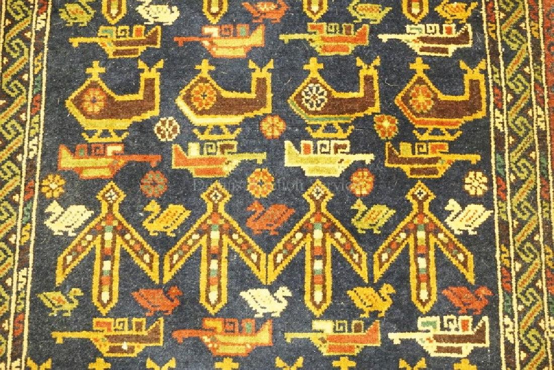 ORIENTAL RUNNER RUG WITH IMAGES OF HELICOPTERS AND - 2