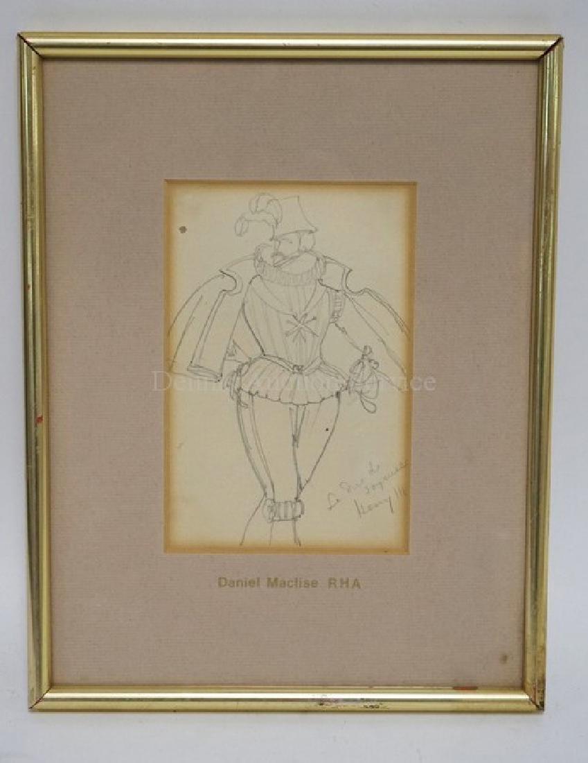 DANIEL MACLISE (1806-1870) PENCIL DRAWING OF A MAN IN