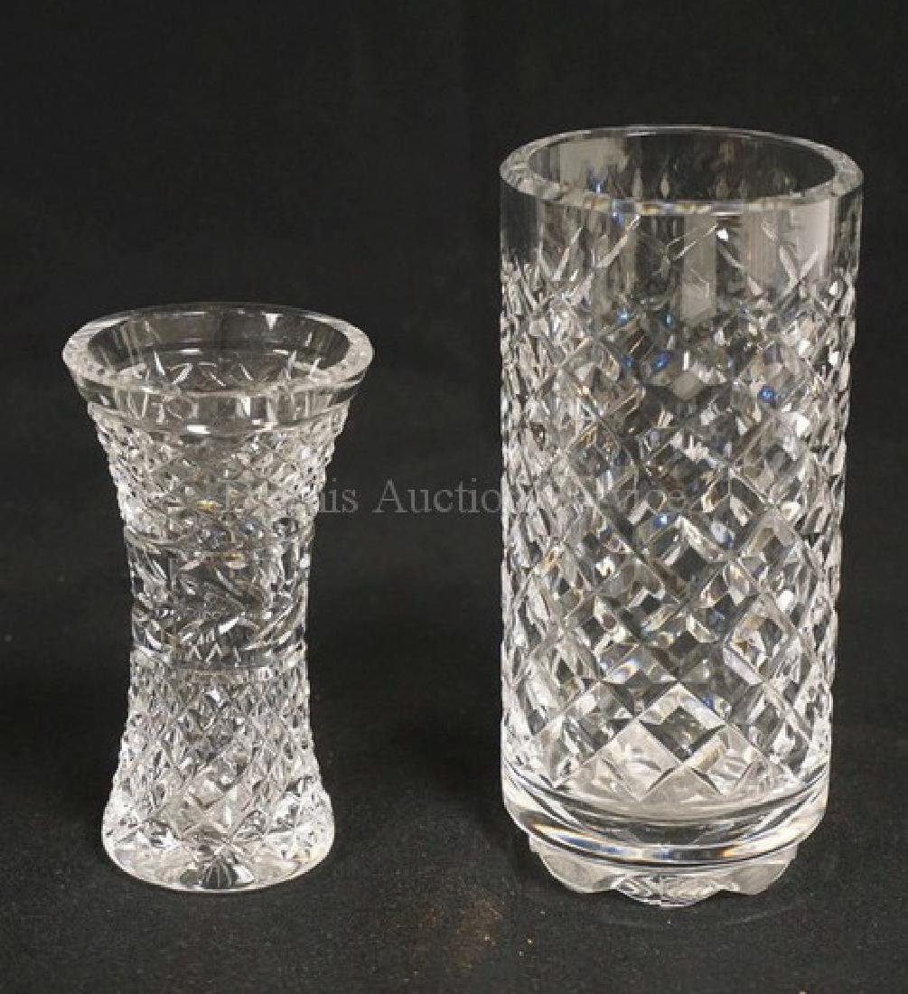 LOT OF 2 WATERFORD CRYSTAL VASES. TALLEST IS 6 INCHES.