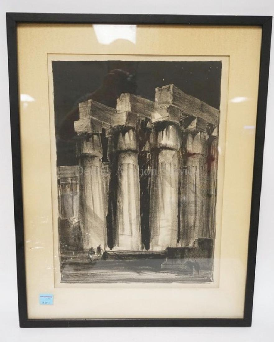 PENCIL SIGNED PRINT BY LOUIS SKIDMORE. 15 X 20 1/2