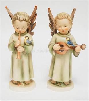 2 HUMMEL PORCELAIN ANGEL FIGURES. #172/0 & 173/0.