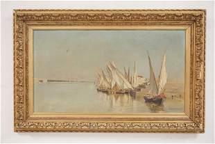 EDUARDO MONTEFORTE (ITALY, 1849-1933) OIL PAINTING ON