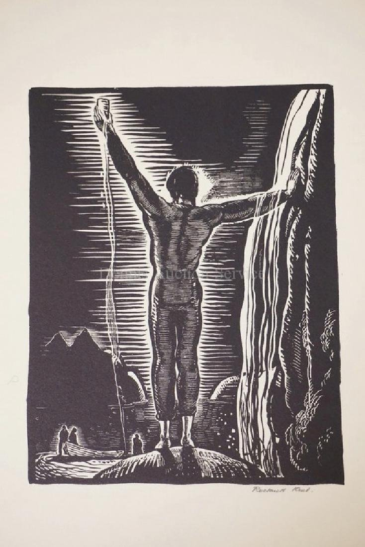 ROCKWELL KENT *TO GOD*. PENCIL SIGNED ON FLOWER
