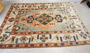 HAND WOVEN ORIENTAL RUG MEASURING 7 FT 10 INCHES X 10