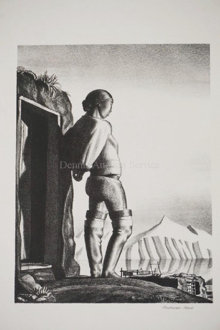 ROCKWELL KENT PENCIL SIGNED PRINT TILTED *YOUNG