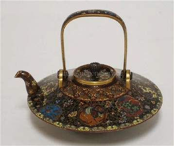 OUTSTANDING AND VERY FINE ASIAN CLOISONNE DECORATED