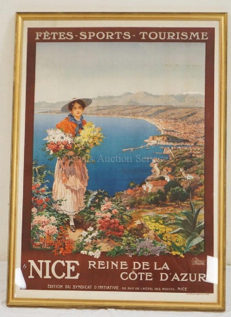PARIS FRANCE *NICE* POSTER. MOULLOT. MARSEILLE. 33 X 45