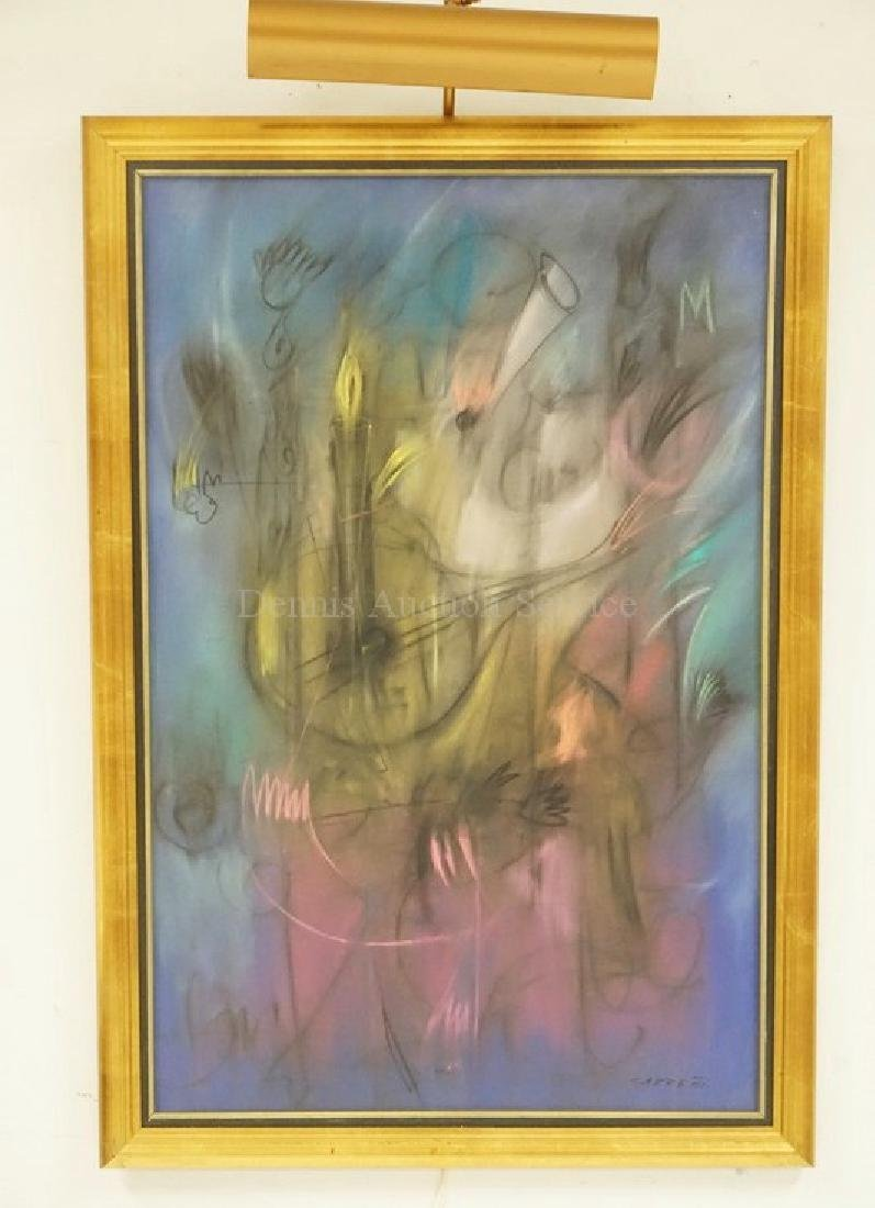 ABSTRACT PASTEL PAINTING SIGNED *CARRENO*.