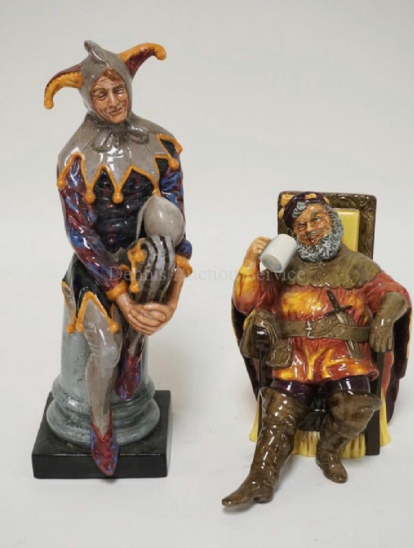 2 ROYAL DOULTON FIGURES. THE JESTER & THE FOAMING