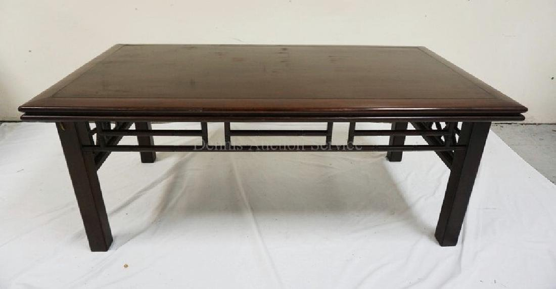 CARVED SOLID MAHOGANY ASIAN COFFEE TABLE BY *ALTFIELD*