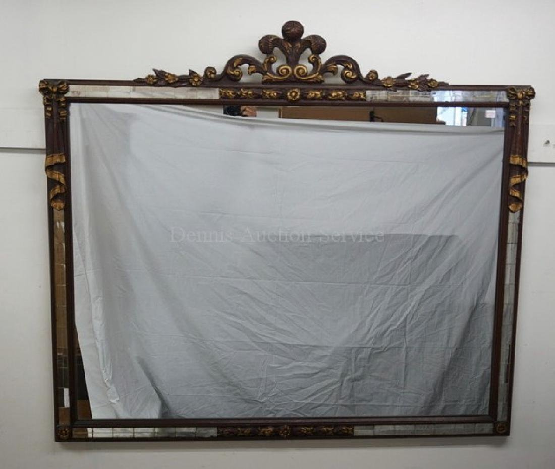 WALL MIRROR WITH FLEUR DES LIS AND RIBBON DECORATION