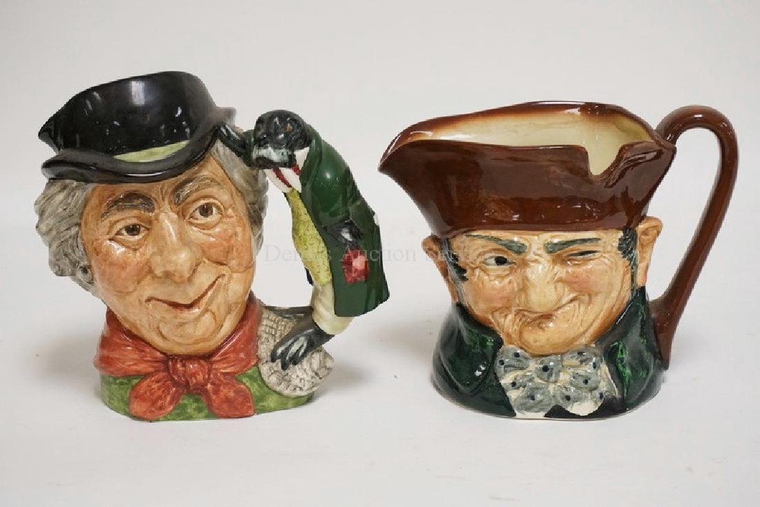 2 ROYAL DOULTON LARGE TOBY JUGS. THE WALRUS AND