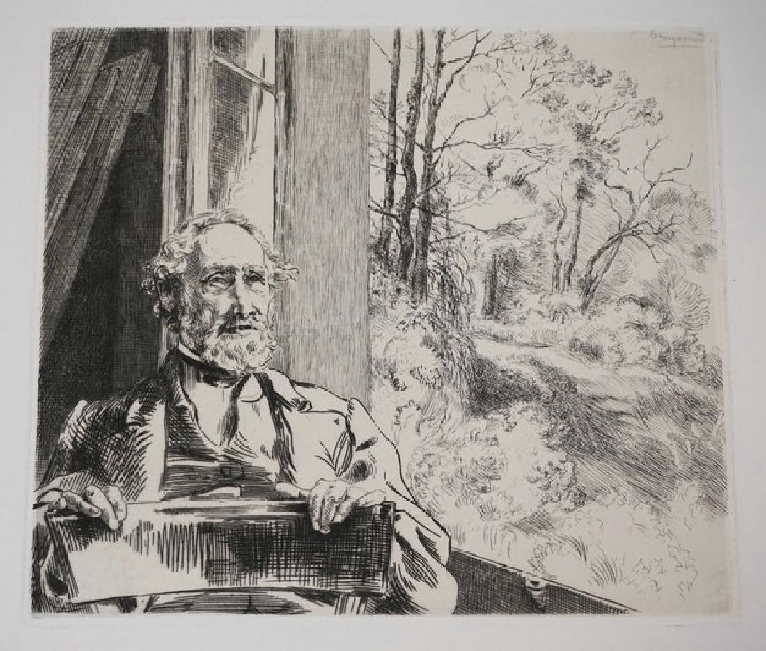 FELIX BRACQUEMOND (FRANCE, 1833-1914) ETCHING. 9 5/8 X