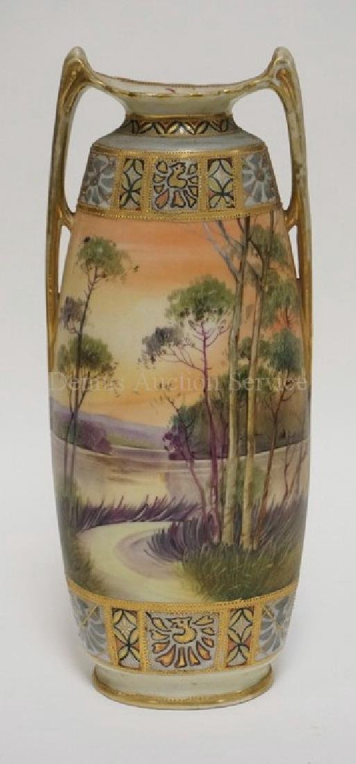 Hand painted nippon vase double handled 12 scenic hand painted nippon vase double handled 12 reviewsmspy