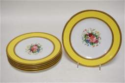 SET OF 6 FRENCH HAND PAINTED AHRENFELDT LIMOGES PLATES